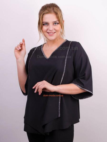 Женская блузка свободного кроя для полных женщин