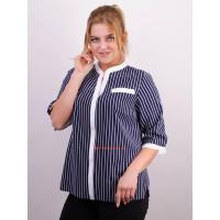 Стильная женская блузка в принт для полных девушек
