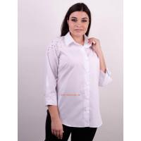 Женская классическая рубашка с бусинами большого размера