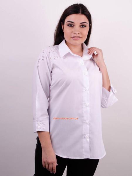 Жіноча класична сорочка із намистинами великого розміру