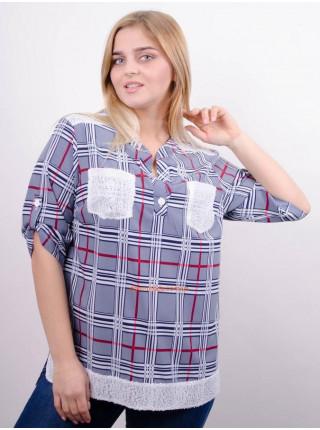 Модна клітчаста сорочка для повних дівчат
