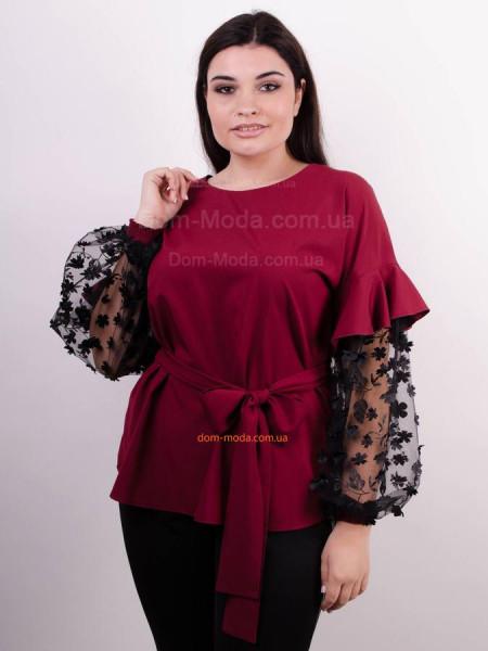 Красивая блузка с пышными рукавами для полных