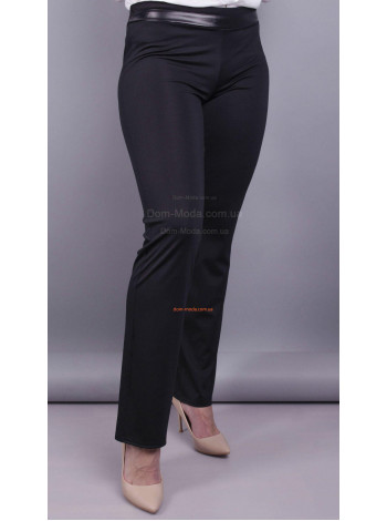 Женские классические черные брюки большого размера