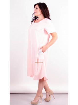 Нарядное летнее платье с рукавом для полных девушек
