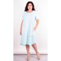 Нарядне літнє плаття із рукавом для повних дівчат