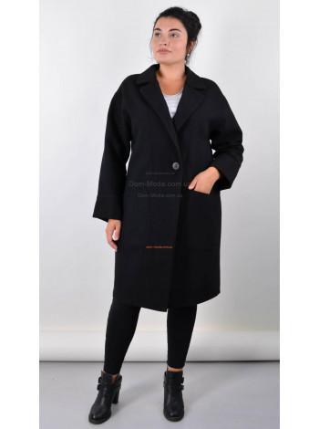 Класичне чорне пальто великого розміру