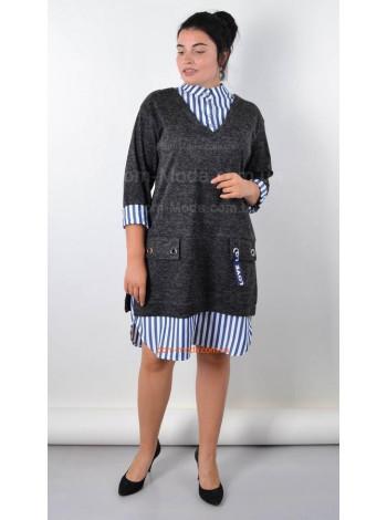 Стильное платье туника для полных женщин