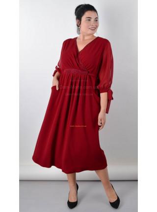 Жіноча вечірня сукню міді великого розміру