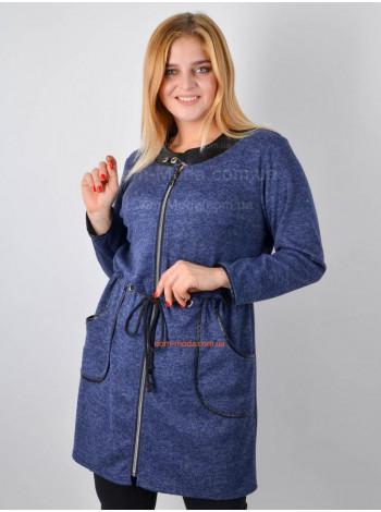Жіночий модний кардиган із кишенями для повних