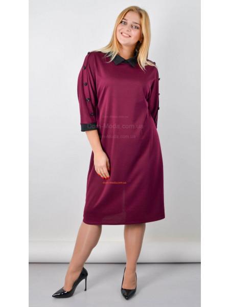 Стильное женское платье с воротничком для полных девушек