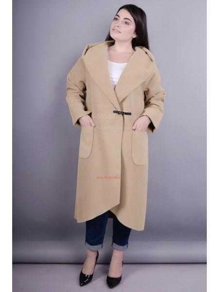 Модное женское кашемировое пальто кардиган без подкладки для полных