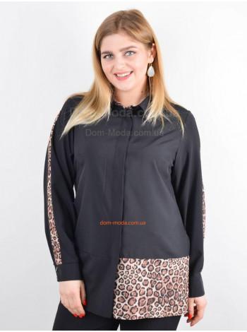 Модна жіноча рубашка зі вставками великого розміру
