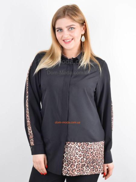 Модная женская рубашка со вставками большого размера