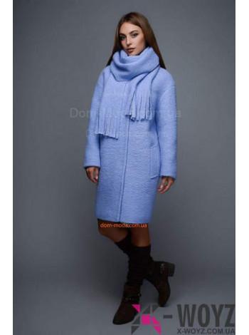 """Теплое зимнее пальто с шарфом """"Тики"""""""