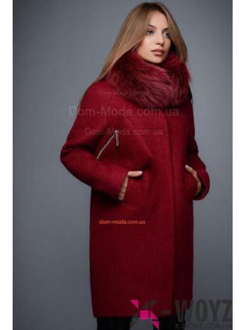 """Зимове жіноче пальто із хутром """"Лісабон"""""""