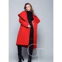 """Теплое длинное пальто с капюшоном """"Артика"""""""