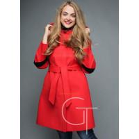 Яркое модное женское кашемировое пальто