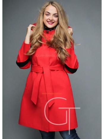Яскраве модне жіноче кашемірове пальто