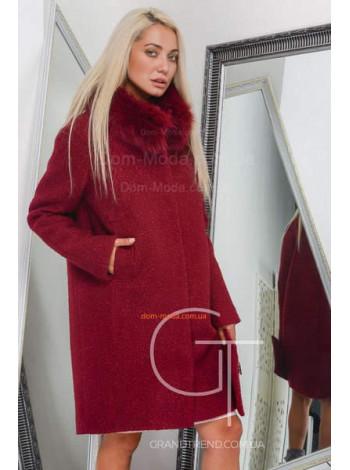 Зимнее женское пальто прямого кроя
