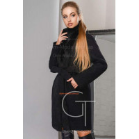 Пальто зимове жіноче із натуральним хутром