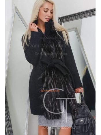 Зимове тепле пальто жіноче із хутром