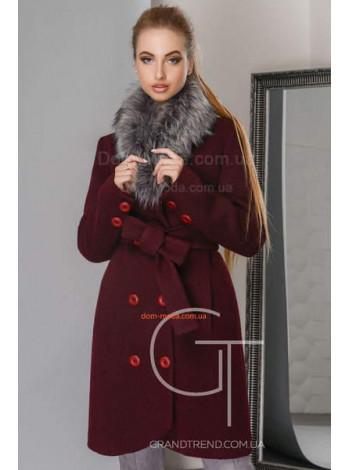 Стильне пальто зимове з хутром