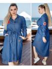 Джинсовое платье халат норма и батал