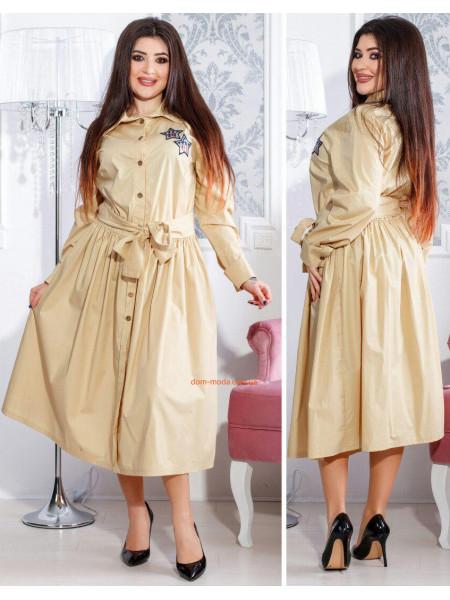 Жіноче модне плаття сорочка з довгим рукавом і поясом ... f3be168af7514