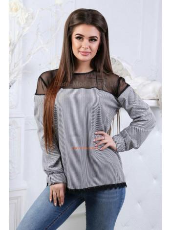 Женская рубашка без пуговиц