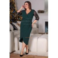 Вечернее женское платье на запах большого размера