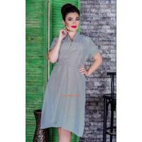Женское полосатое платье большого размера