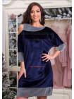 Вечернее бархатное платье большого размера