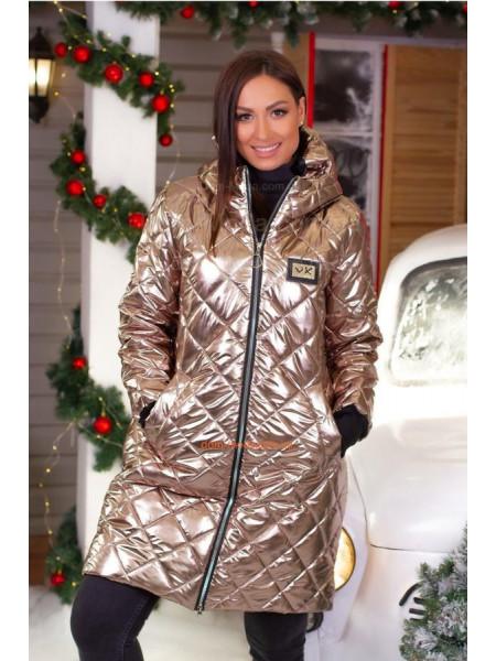 Женская стеганая куртка с холлофайбером норма и батал