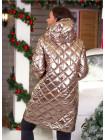 Жіноча стьобана куртка з холлофайбером норма і батал