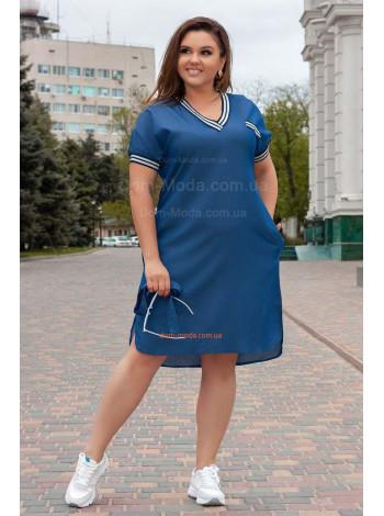 Летнее джинсовое платье большого размера