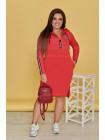 Трикотажное спортивное платье большого размера