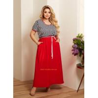 Жіноче яскраве літнє плаття великого розміру