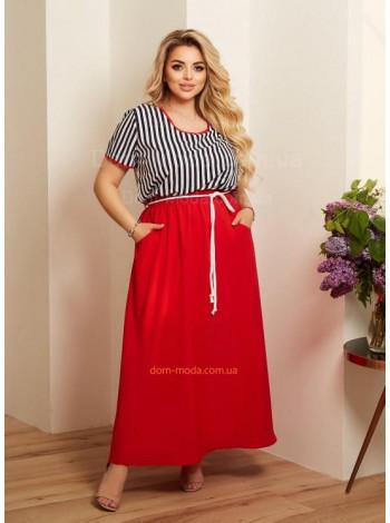 Женское яркое летнее платье большого размера