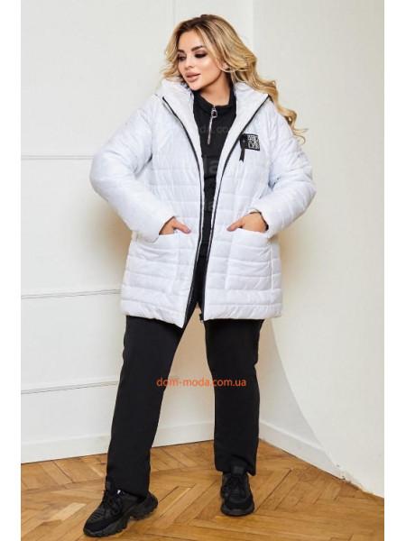 Куртка женская демисезонная стеганая большого размера