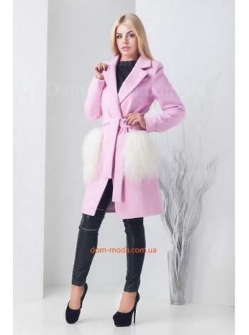 """Жіноче модне пальто із накладними кишенями """"Мілана"""""""