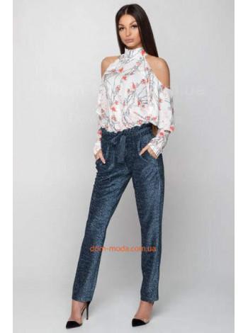 Жіночі штани з люрексом