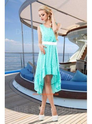 """Модное женское платье с рюшами """"Асимметрия"""""""