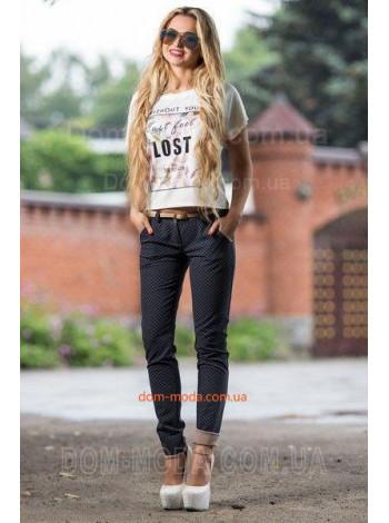 Модные женские брюки из стрейч-коттона