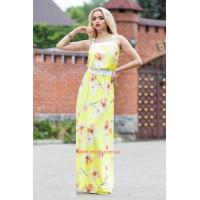 """Модный длинный женский сарафан """"Цветы"""""""