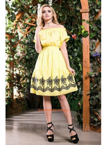 "Короткий модный сарафан платье ""Вышивка"""
