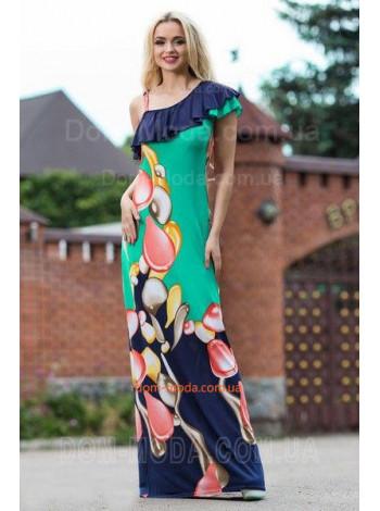 """Длинное женское платье на одно плечо """"Баска"""""""