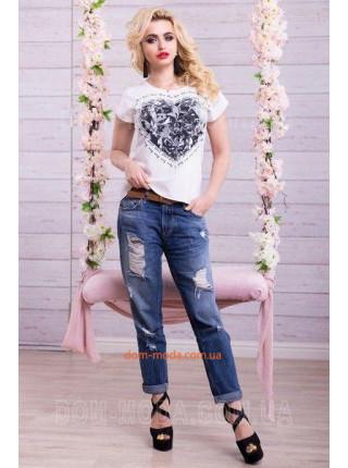 """Стильная женская футболка """"Большое сердце"""""""