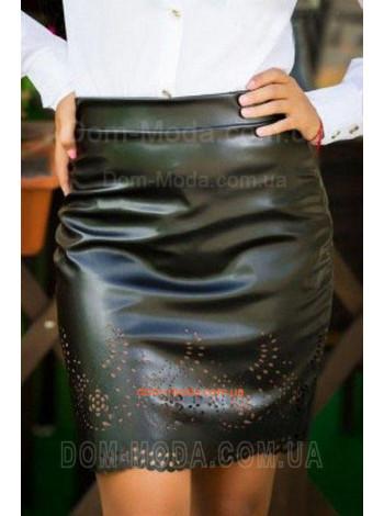 Женская стильная юбка карандаш из эко-кожи