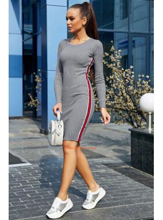 Женское облегающие платье с лампасами