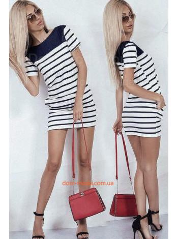 Недорогое полосатое платье туника
